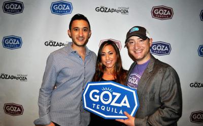 Goza Tequila founders Jacob Gluck, Lauren Kaufman and Adam Hirsch.