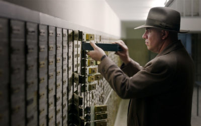 """Andries Riphagen (Jeroen van Koningsbrugge) adds to his stash of loot collected from betrayed Dutch Jews in """"Riphagen: The Untouchable,"""" being screened Jan. 31 and Feb. 2, 5, 11 and 14."""