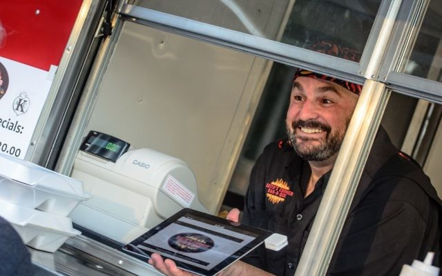Keith Marks served Kosher BBQ out of his truck at the 2016 Atlanta Kosher BBQ Competition.