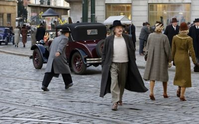 """Albert Einstein (Geoffrey Rush) tries to ignore the signs of the rising Nazi threat in Germany in 1932 in the first episode of """"Genius."""""""