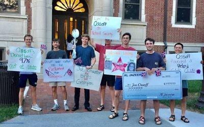 College Republicans offer Jon Ossoff an unfriendly welcome to Georgia Tech on Thursday.