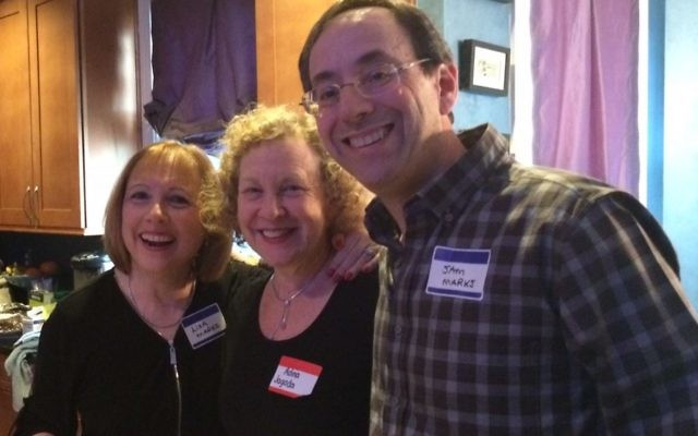 Event co-chair Lisa Marks (left), Adina Jagoda and Sam Marks attend the Toco Hills dinner.