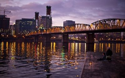 Many bridges carry public transportation, pedestrians, bikes and cars across the Willamette River.