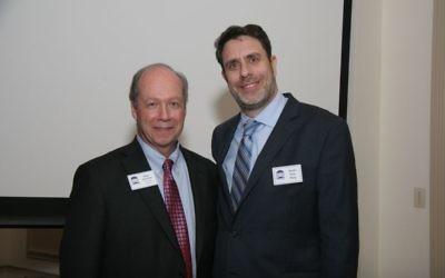 Executive Director Mark Jacobson (left) and Senior Rabbi Peter Berg have been close partners in leading The Temple from the time Rabbi Berg arrived — more than three decades after Jacobson got his start at Atlanta's oldest synagogue.