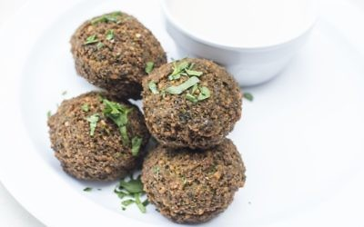 Falafel is one of the signature items at Atlanta's Bezoria in Midtown. Photo by Michelle Labovitz, M-Squared PR