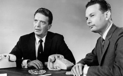 People could have gotten news of the ware from Chet Huntley (left) and David Brinkley on NBC in 1967.