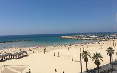 Tel Aviv's beach provides a connection with the Mediterranean.