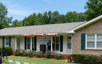 The ranch-style house at 795 Brannon Road should be ready for Chabad of Forsyth and its Congregation Beth Israel by August after some renovations.