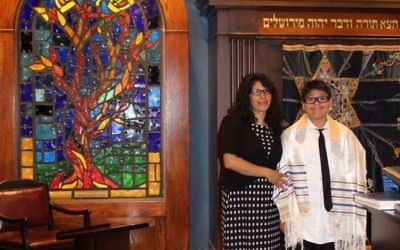 Isadora Romero and son Gael Juarez-Romero never miss a Shabbat at Congregation Or VeShalom.