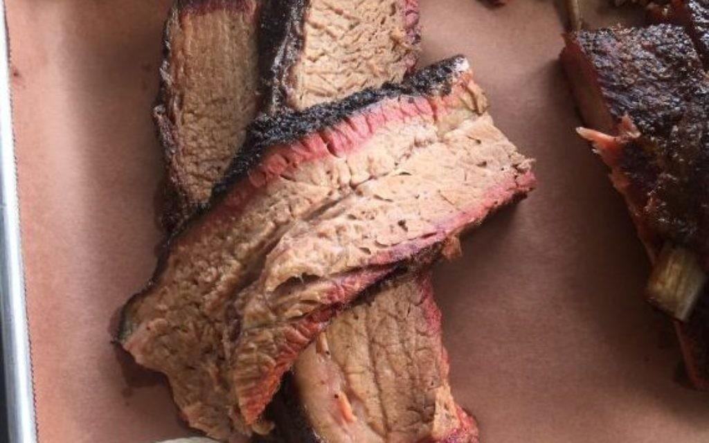 The beef brisket at Das BBQ off Collier Rd.