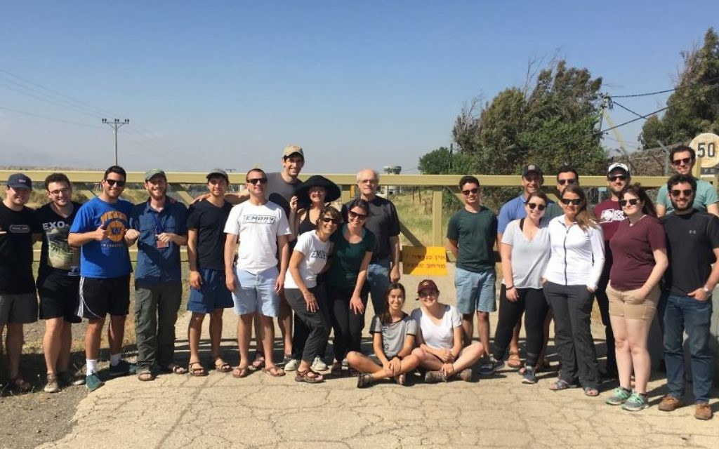 The ISMI Israel trip group visits the Golan Heights.