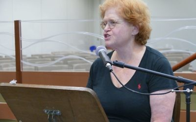 Deborah Lipstadt discusses the nuances of contemporary anti-Semitism during her annual Tisha B'Av lecture at Young Israel of Toco Hills on Aug. 1.