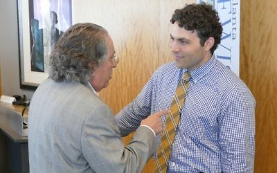 Josh Pastner's appearance at the Jewish Breakfast Club on Aug. 16 is one of several times he has made himself available to the Jewish community this year. (Photo by David R. Cohen)