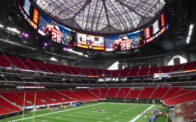 A look inside of the newly completed Mercedes-Benz Stadium. The venue will host its first event on Aug. 26 when the Falcons face the Arizona Cardinals in preseason play.