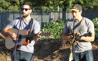 Local bluegrass duo the Cohen Brothers Band.