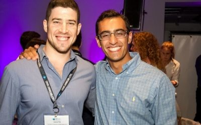 Zack Leitz and his Israeli peer, Leeron Paz, are all smiles during the Excel Fellowship in Israel.