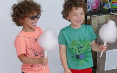 Levi and Avidan Frank, the sons of Jewish Fertility Foundation Executive Director Elana Frank, have a good time during the open-house celebration JFF held at Brilliant Sky Toys and Books in Sandy Springs Aug. 27.
