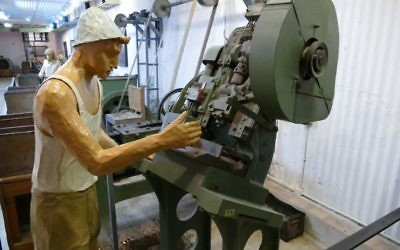 Some of the original ammunition-production machinery remains intact more than 70 years later.