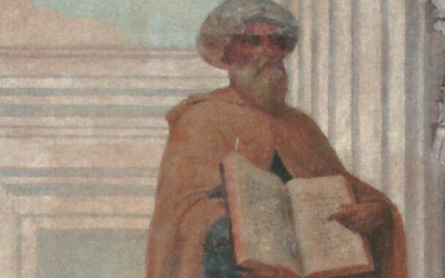 "Not every physician combines the caring, knowledge and Jewishness of Maimonides, as shown in a detail from Veloso Salgado's ""Arabic Medicine"" painting from around 1906."