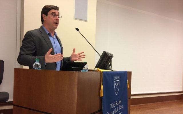 Photo by Bob Bahr Dov Waxman says many Jews are afraid to talk about Israel.
