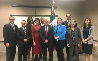 AJC Atlanta representatives meet with Mexican Consul General Javier Diaz de Leon.