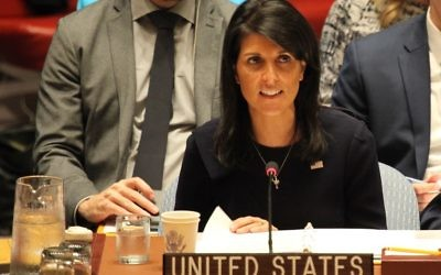 Nikki Haley, the U.S. ambassador to the United Nations (shown during an earlier Middle East debate), faced criticism and condemnation from the other 14 members of the U.N. Security Council on Friday, Dec. 8, two days after her the Trump announcement.