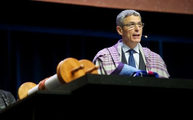URJ President Rabbi Rick Jacobs speaks at the biennial in Boston in December 2017.