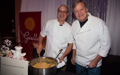 Il Giallo chef/owner Jamie Adams, serving butternut squash risotto, says many Jewish customers have followed him from his former Midtown spot to Sandy Springs.