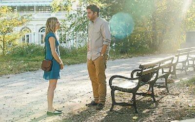 "Zosia Mamet and Matthew Shear star in ""The Boy Downstairs."""