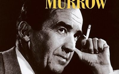 "Edward R. Murrow appears on the cover of another book, ""Journalism at Its Best."""