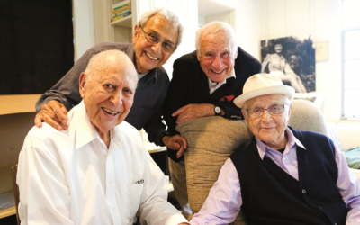 "(From left) Carl Reiner, George Shapiro, Mel Brooks and Norman Lear are enjoying old age in ""If You're Not in the Obit, Eat Breakfast."""