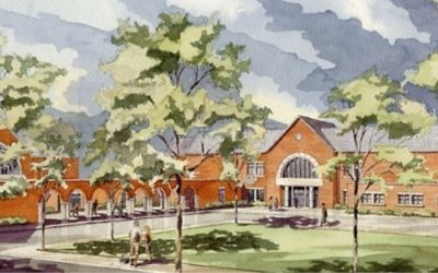 This pastoral artist's rendering, showing Peachtree Charter Middle School after renovations, is on the school's website (http://www.peachtreems.dekalb.k12.ga.us/Default.aspx).