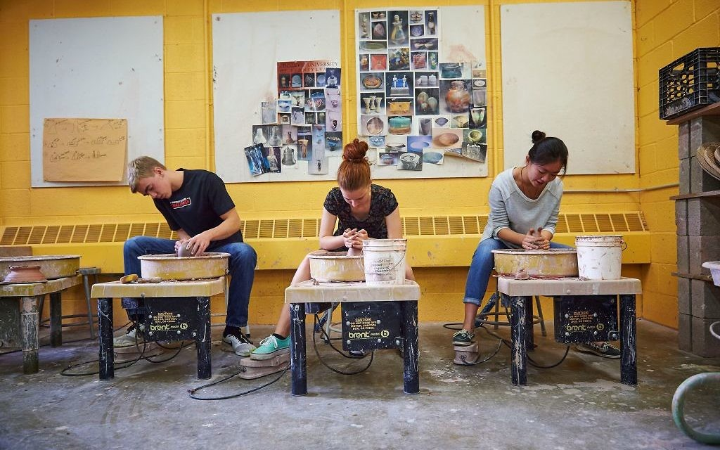 The Creative Arts Academy includes a clay room.