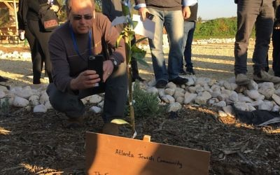 The Jewish leadership mission planted fruit trees on Tu B'Shevat.