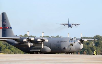 Huge aircraft taking off and landing, as the C-130s do at Dobbins Air Reserve Base in Marietta, is one source of wonder in the world. (Photo by Tech Sgt. Amber Williams, Georgia National Guard)