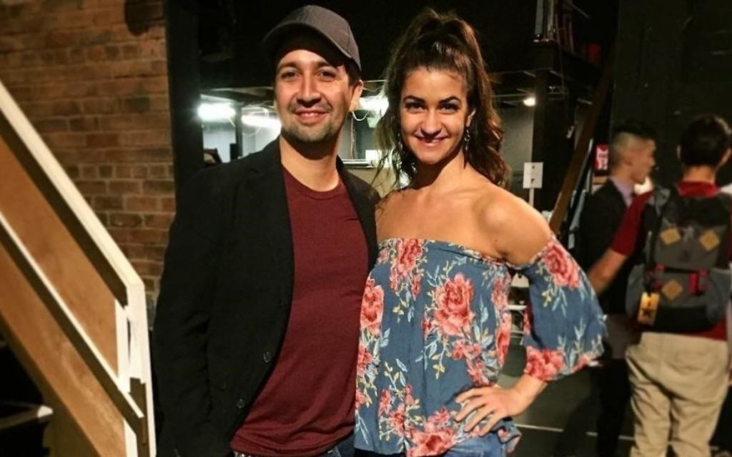 """Hamilton"" creator Lin-Manuel Miranda meets Jennifer Geller at the musical's opening night in Los Angeles."