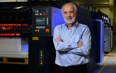Tom Glaser Leadership Award winner Benny Landa decided at some point that rather than just change the printing industry, he would change the world.