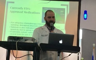 Physician Zachary Cohen speaks about medical marijuana Feb. 18. (Photo by Marcia Caller Jaffe)