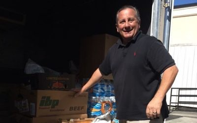 Jonathan Calvis wins the 2018 Lenny Award for rescuing more than 70,000 pounds of surplus, perishable food in 2017.