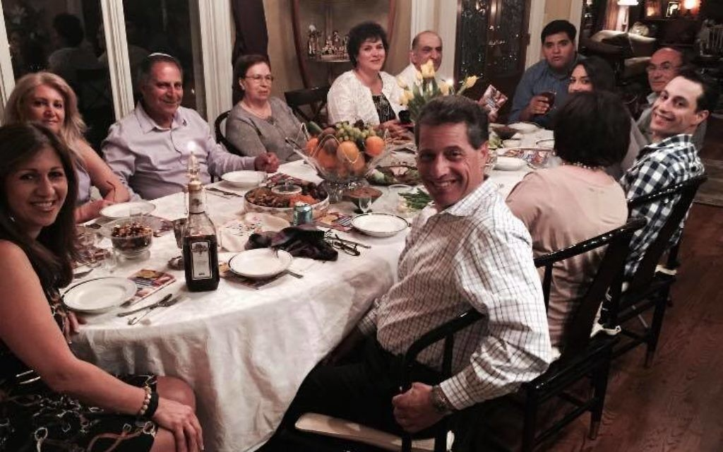 Persian jewish traditions influence seder atlanta jewish times safa nooromid left end of table left iran when she was 18 because of m4hsunfo