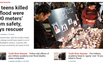 Get full coverage of the Tzafit River disaster from our partners at The Times of Israel at www.timesofisrael.com/topic/tzafit-river-disaster. (Screen grab from The Times of Israel)