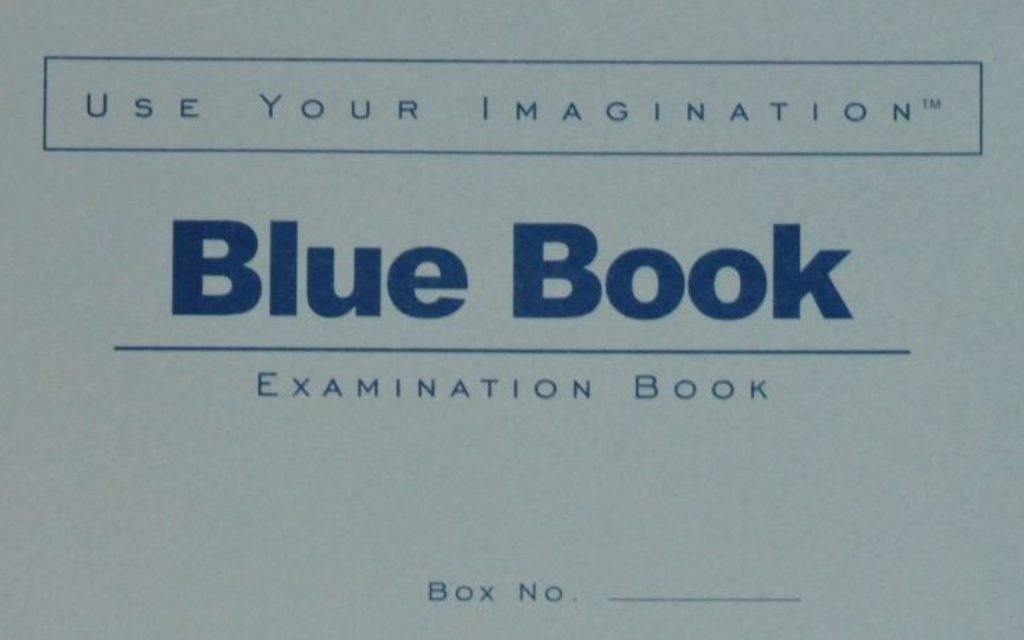 There was a time when the future revolved around Blue Books.