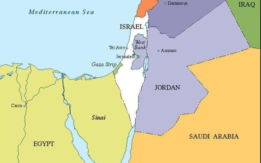 Israel's biggest threat today, unlike 70 years ago, is off the map to the east: Iran. But it is asserting itself in unstable nations much closer to Israel's borders.