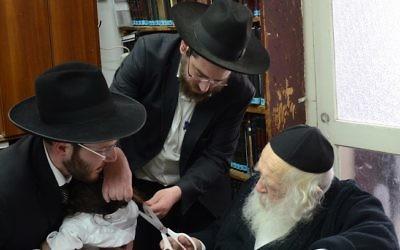 Rabbi Aaron Fruchtman marks a family milestone in Jerusalem.