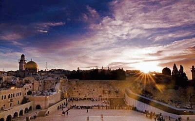 Josh Pastner captures dawn at the Western Wall.