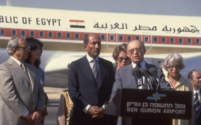 Egyptian President Anwar Sadat's visit to Israel in 1977 stands out as a key moment in history for Roey Shoshan.