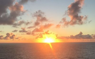 It's hard to beat the view of sunset on a Caribbean cruise. (Photo by Robyn Spizman Gerson)