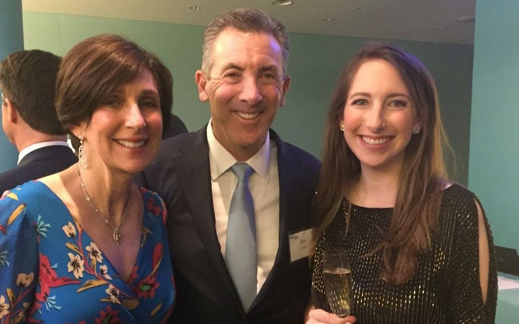 Honorees Lauren and Jim Grien enjoy the evening with daughter Katie.