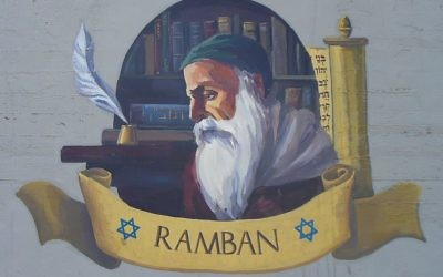 A painting of Nachmanides in Akko, Israel