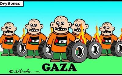 Cartoon by Yaakov Kirschen, Dry Bones, Israel